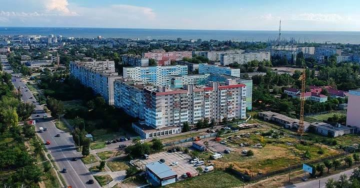 Район Экватора в Бердянске Нагорная часть города